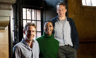 Jamie Parker (Harry), Paul Thornley (Ron) e Noma Dumezweni (Hermione)